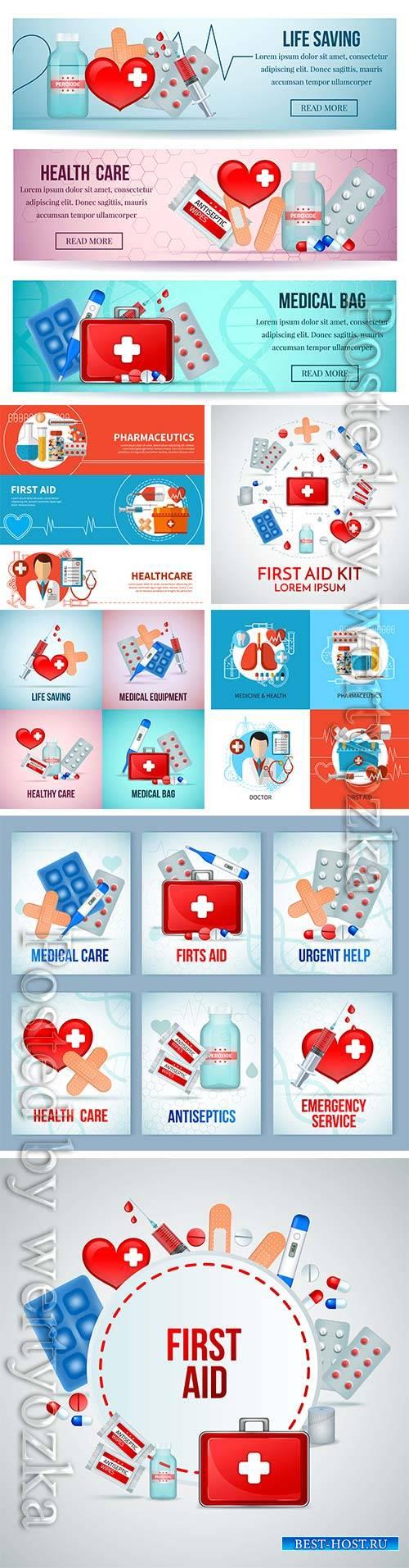 Medicine isometric vector concept