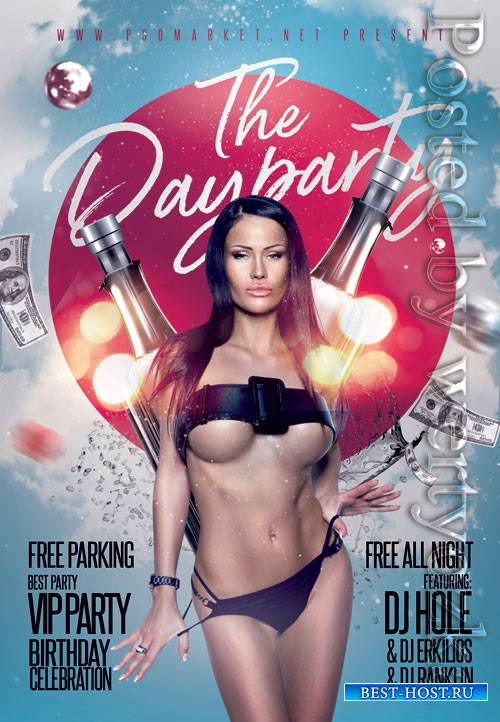 The day party - Premium flyer psd template