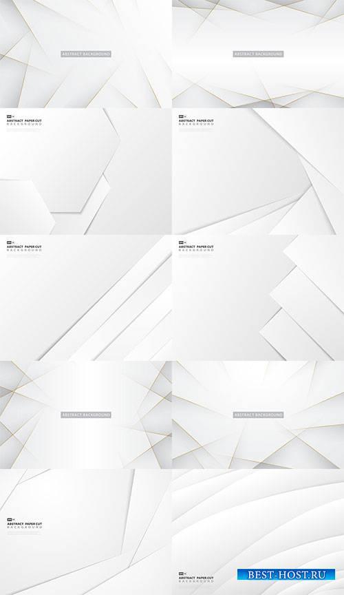 Элегантные белые фоны - Векторный клипарт