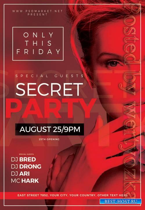 Secret party - Premium flyer psd template