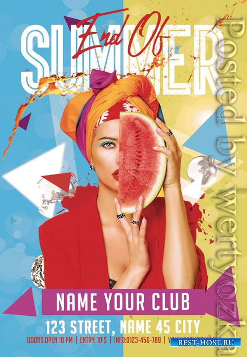 End of summer - Premium flyer psd template