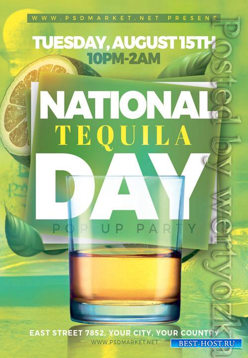 National tequila day - Premium flyer psd template