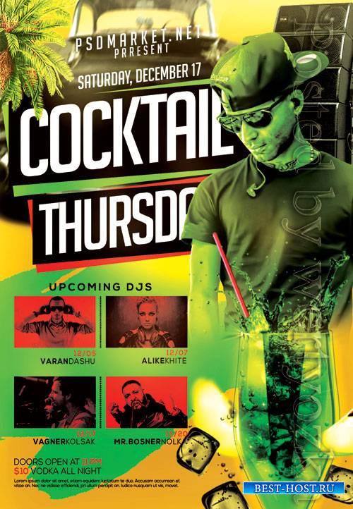 Cocktail thursday - Premium flyer psd template