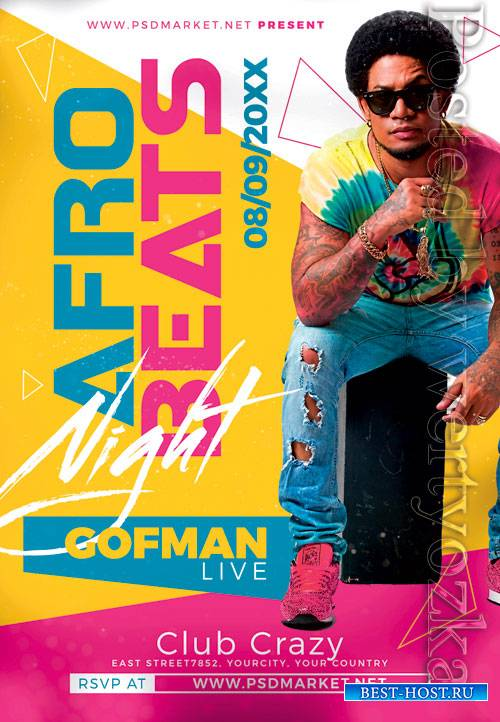 Afro beats - Premium flyer psd template