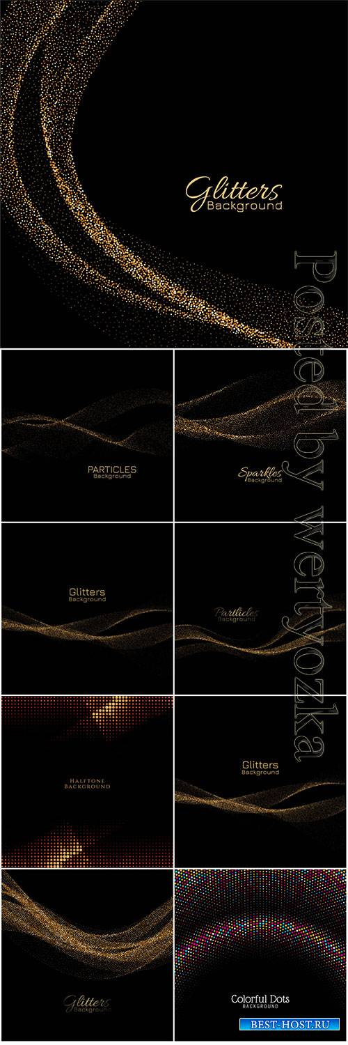 Modern golden sparkles decorative vector background