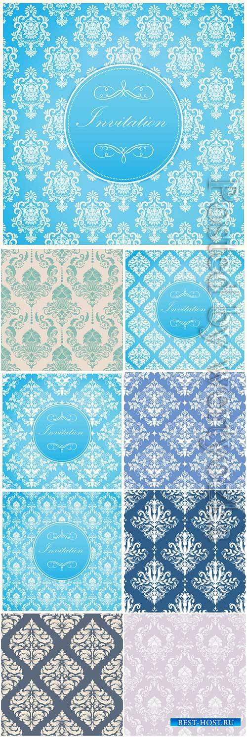 Vector damask seamless pattern vector background