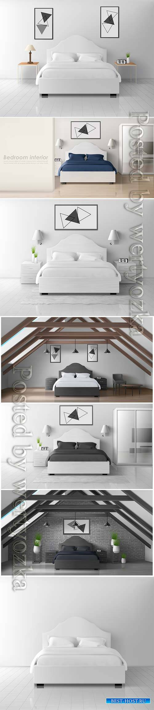 Modern interior in black and white style
