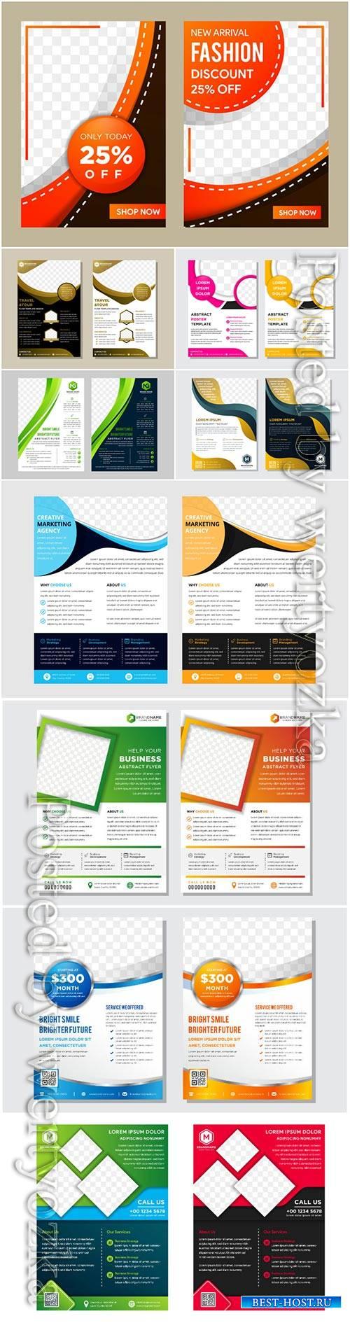 Design vector template for brochure, flyer, magazine