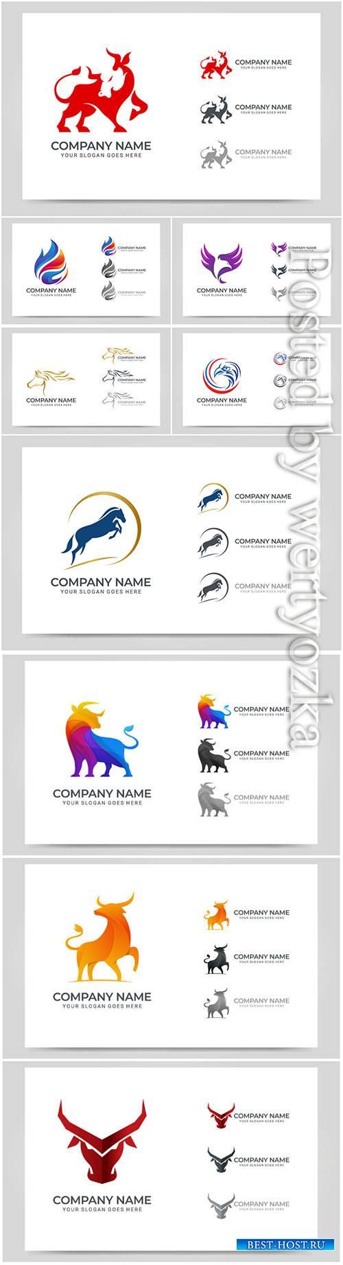 Modern abstract logo design