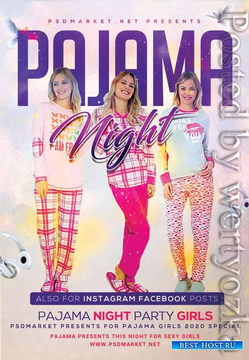 Pajamas party - Premium flyer psd template