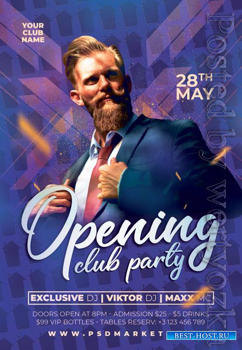 Open club party - Premium flyer psd template