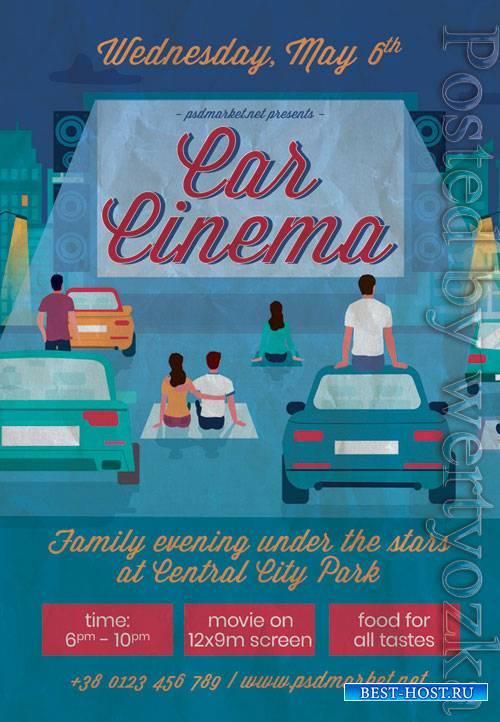 Car cinema - Premium flyer psd template