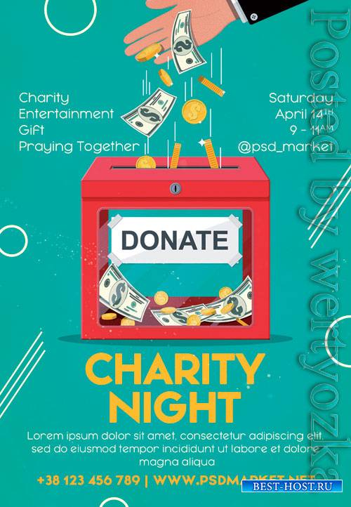 Charity night - Premium flyer psd template