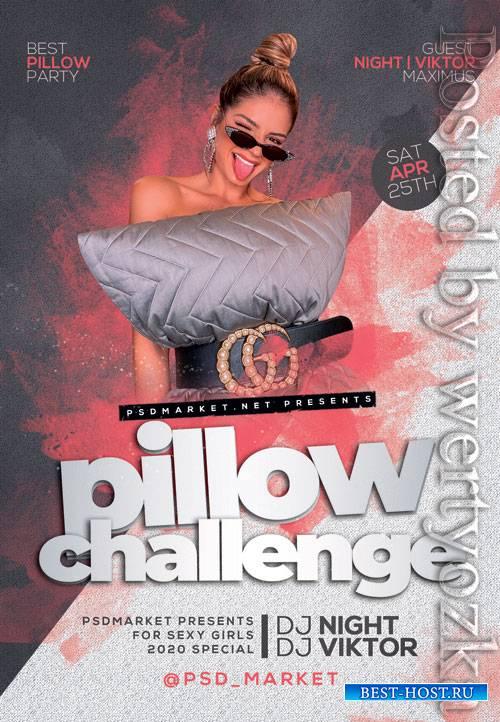 Pillow challenge - Premium flyer psd template