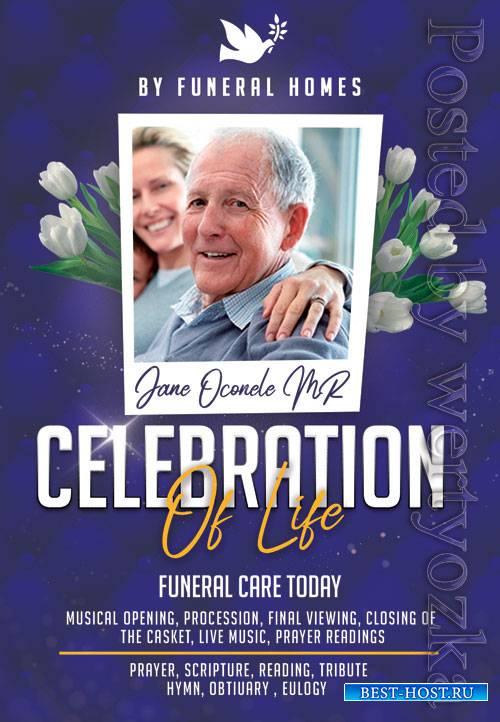 Funeral service - Premium flyer psd template