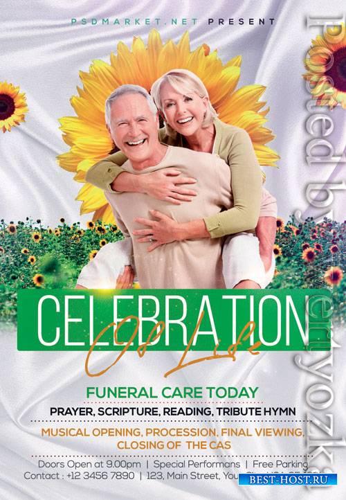 Funeral - Premium flyer psd template