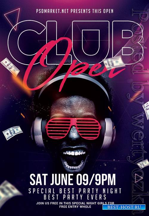 Club open - Premium flyer psd template