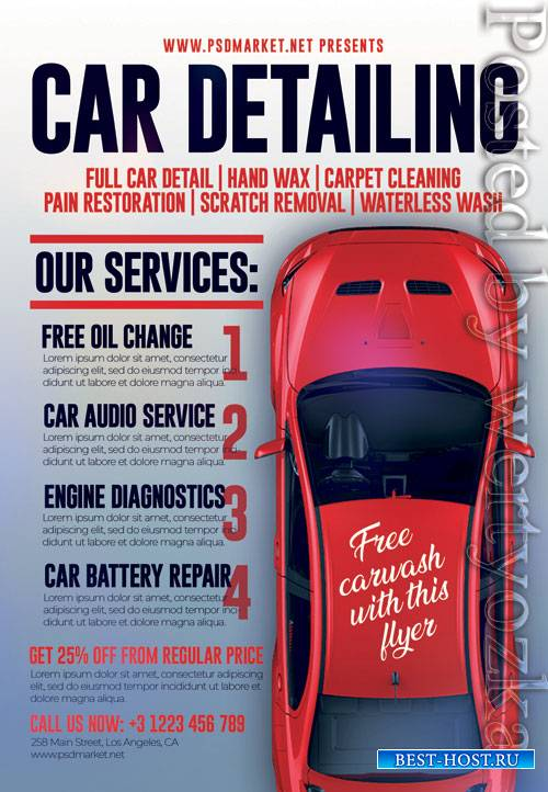 Car detailing - Premium flyer psd template