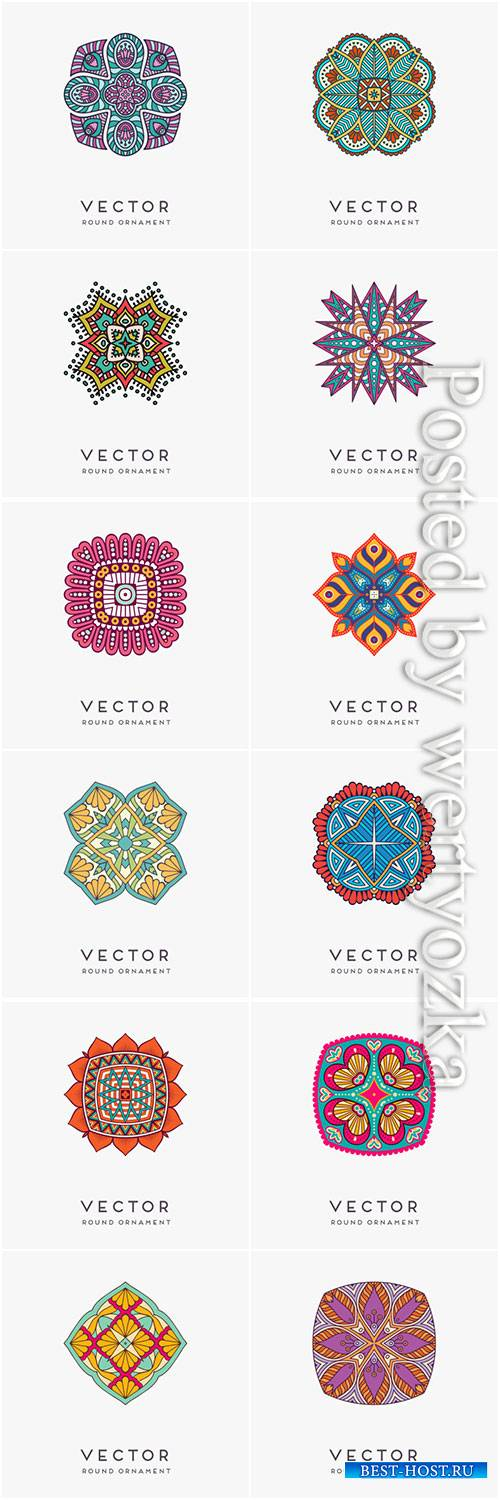 Decorative hand drawn mandala vector illustration