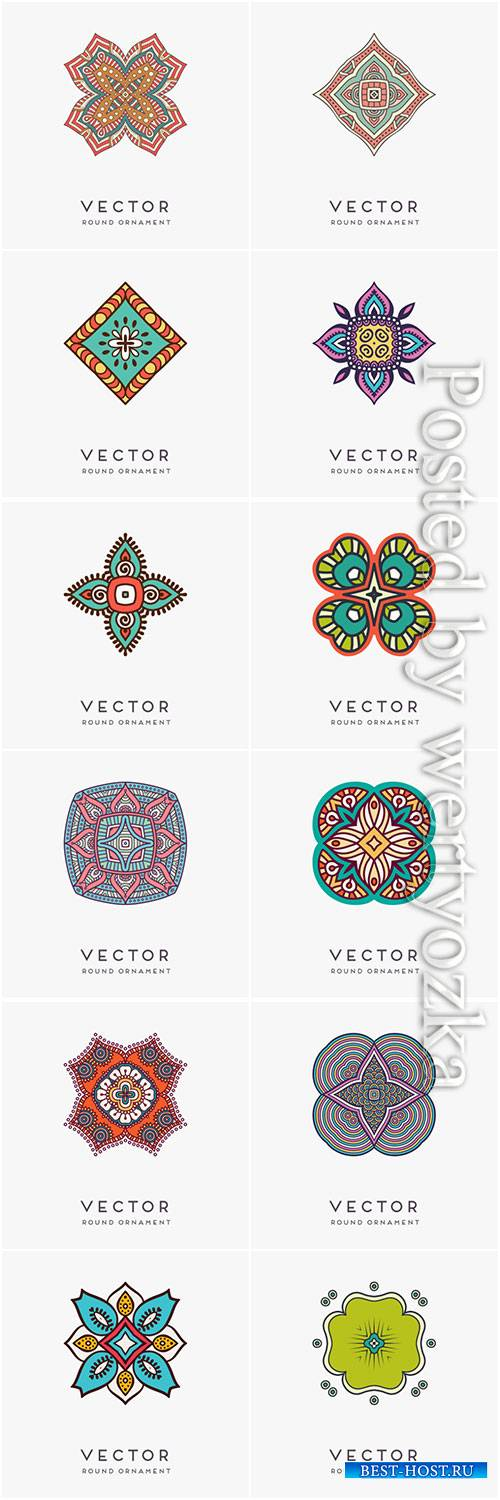 Decorative hand drawn mandala vector illustration # 8