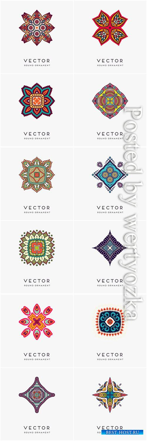 Decorative hand drawn mandala vector illustration # 9