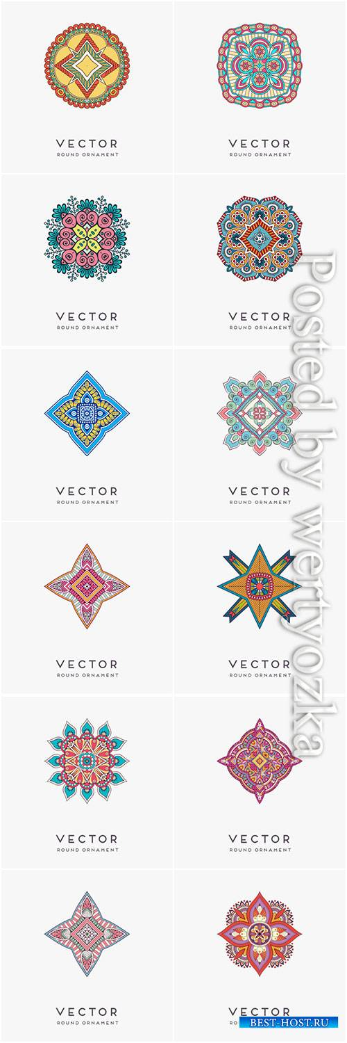 Decorative hand drawn mandala vector illustration # 3