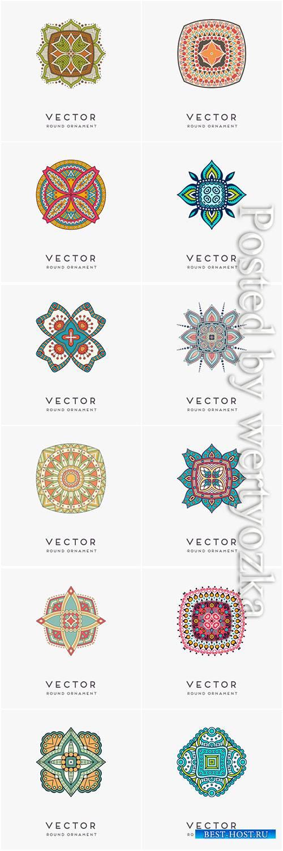 Decorative hand drawn mandala vector illustration # 4