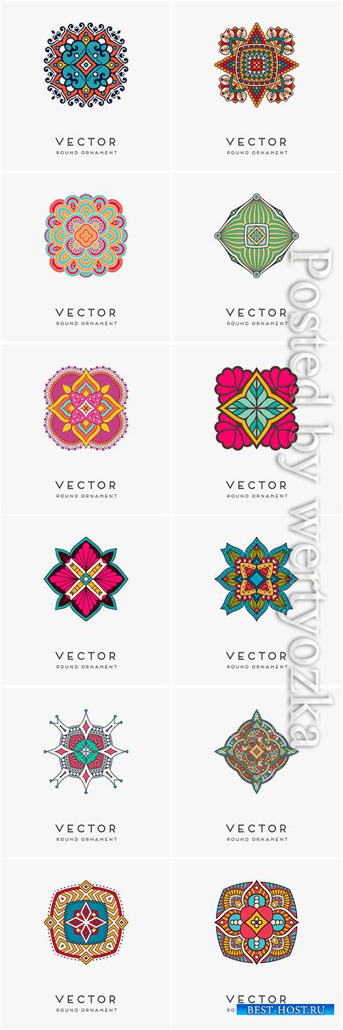 Decorative hand drawn mandala vector illustration # 2