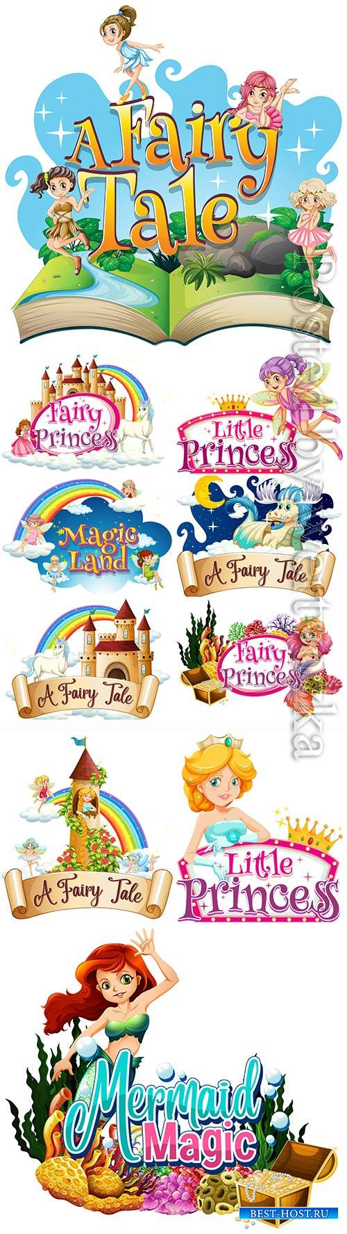 Fairy tale characters vector illustration
