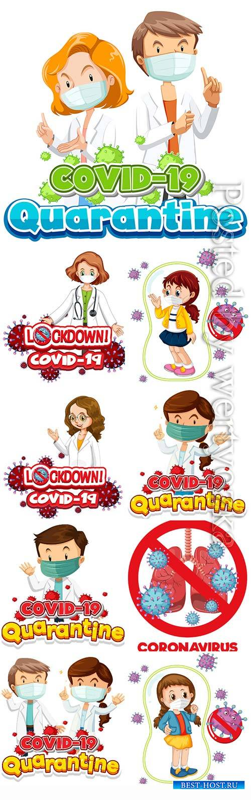 Coronavirus, medicine and people concept vector # 7