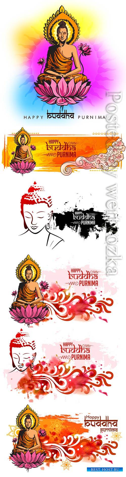 Buddha Purnima vector background with nice and creative design