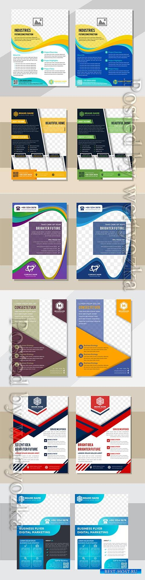 Business flyer template design, brochure vector illustration # 2