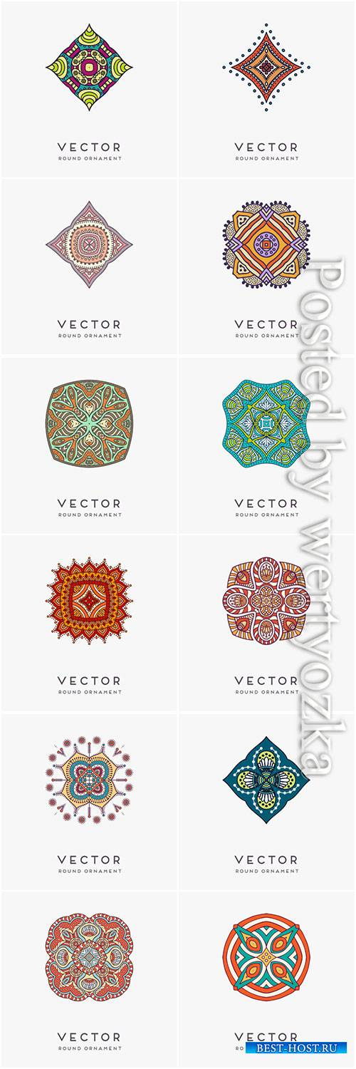 Decorative hand drawn mandala vector illustration # 11