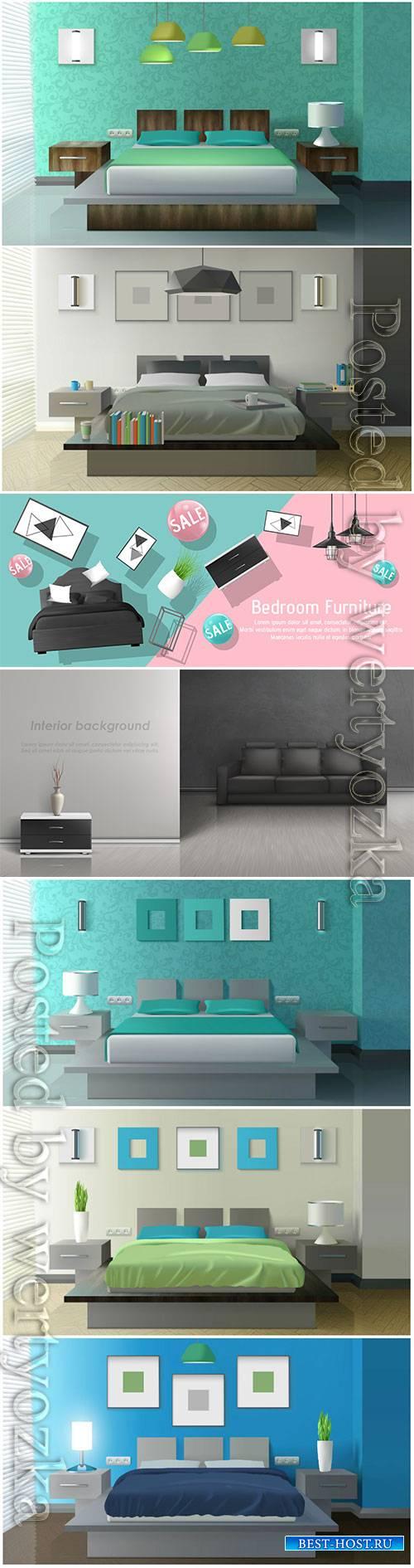 Interior vector design template