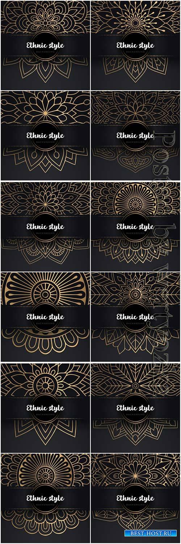 Mandala seamless pattern, islamic vector background # 7