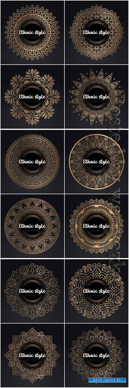Mandala seamless pattern, islamic vector background # 15