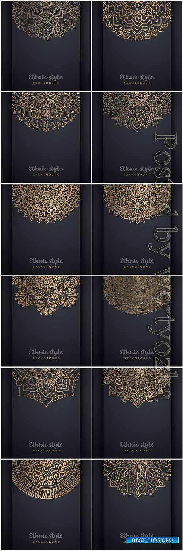Mandala seamless pattern, islamic vector background # 21