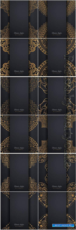 Mandala seamless pattern, islamic vector background # 17