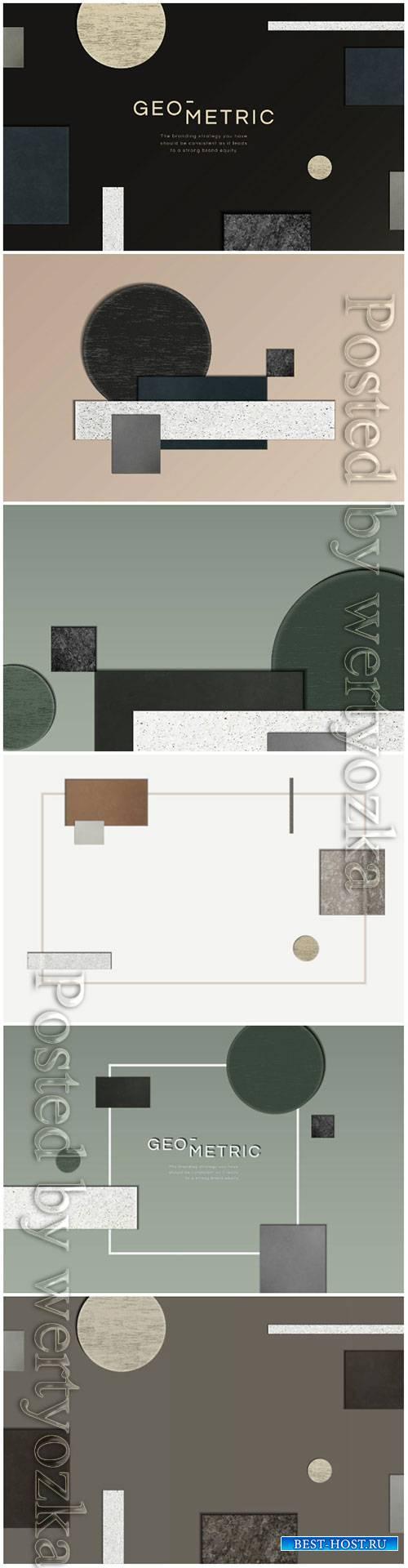 Modern geometric vector background