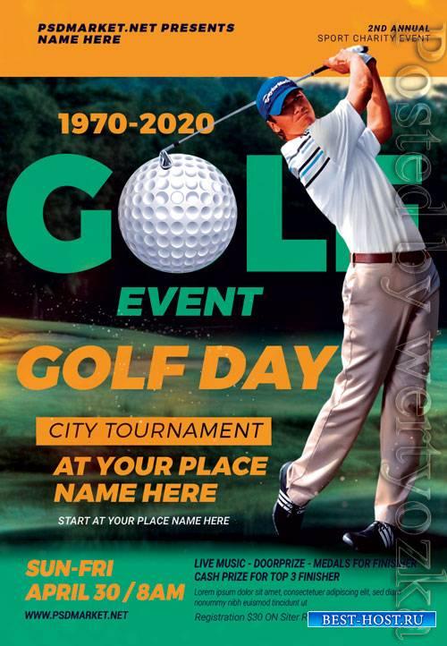 Golf event - Premium flyer psd template