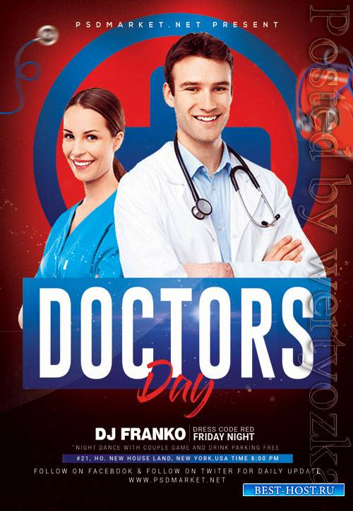 Doctor day - Premium flyer psd template