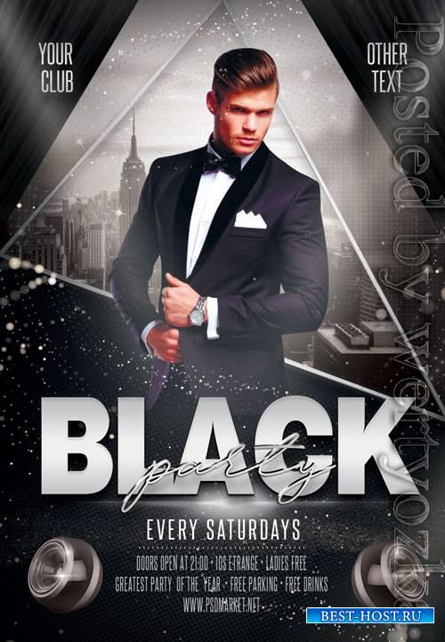 Black event - Premium flyer psd template