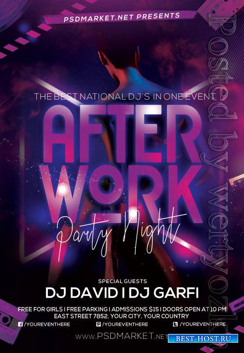 After work party - Premium flyer psd template