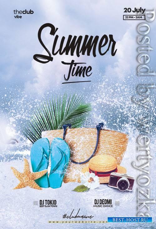 Summer Splash Paty - Premium flyer psd template