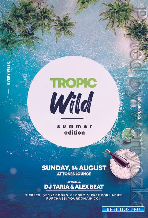 Wild Summer Party - Premium flyer psd template
