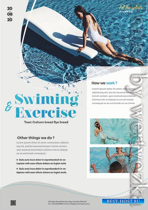 Swimming Lessons - Premium flyer psd template