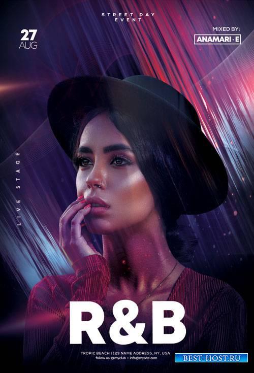R&B Weekend Event - Premium flyer psd template
