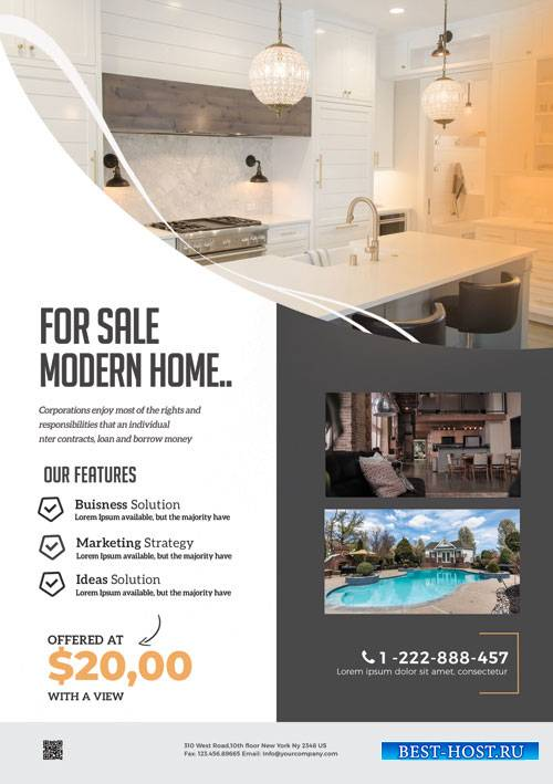 Modern Real Estate - Premium flyer psd template