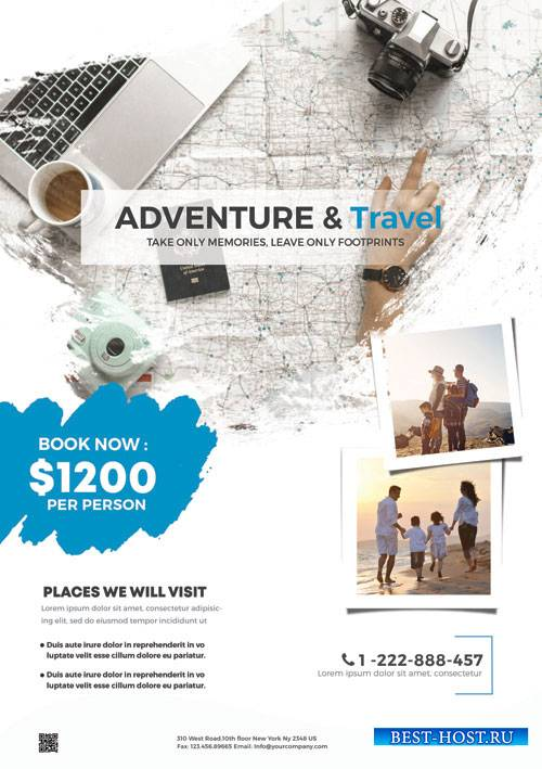 Holiday Travel - Premium flyer psd template