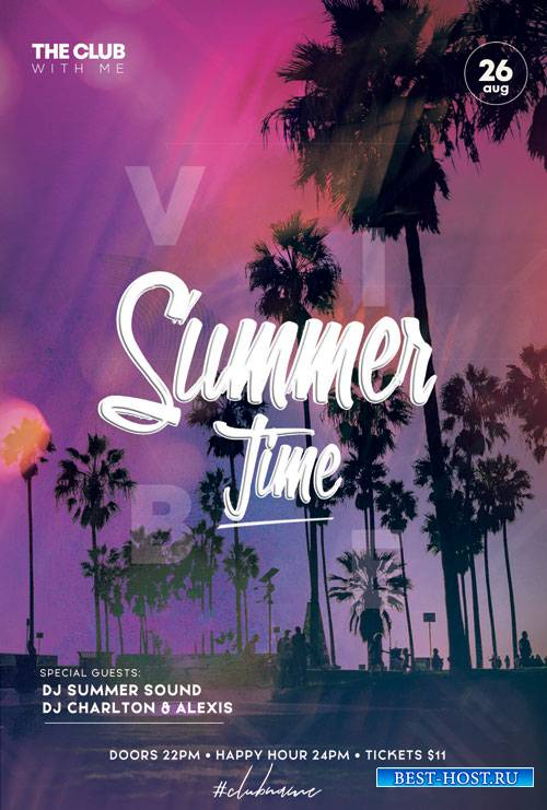 Hello Summer Party - Premium flyer psd template